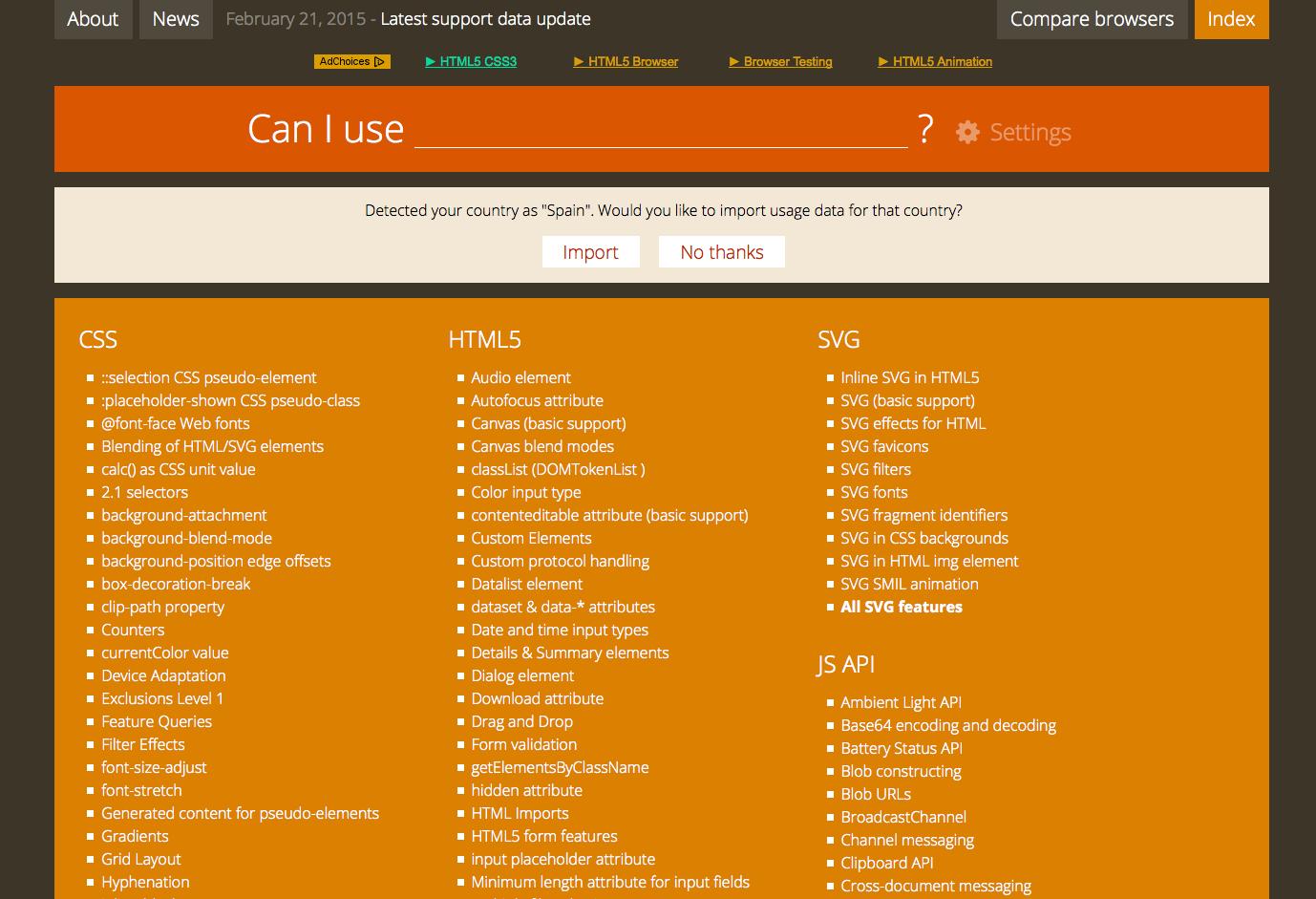 Soporte de navegadores web