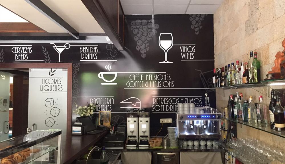 Rotulación cafetería
