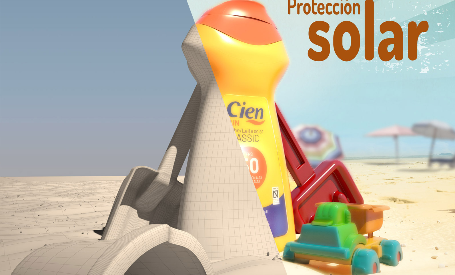 Sun lotion advertising