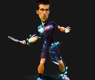 Caricatura: Novak Djokovic