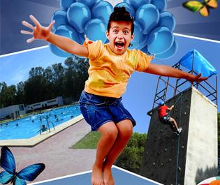 Flyer: promoción campamente de verano