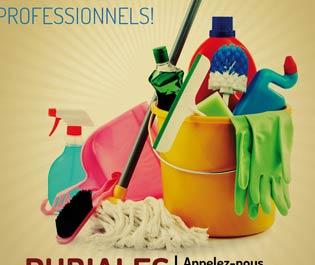 Flyer publicitario: Servicios de limpieza RUBIALES