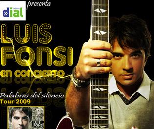 Cartel promocional del concierto de Luis Fonsi en Córdoba.