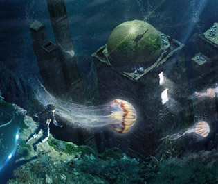 Matte painting - Underwater