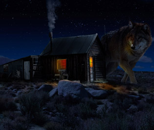 Matte painting Wolf