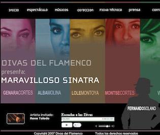 Diseño y desarrollo web - Divas del flamenco