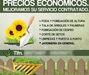 Flyer para empresa de jardinería