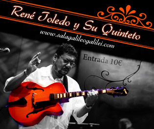 Cartel para al actuación de René Toledo en Madrid.