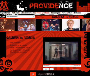 Web oficial grupo de música Providence
