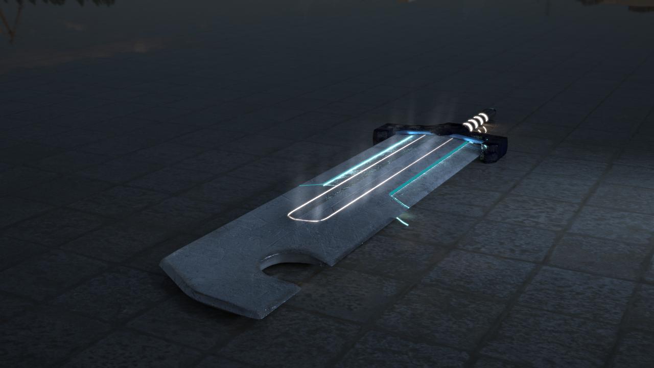 3D assets sword