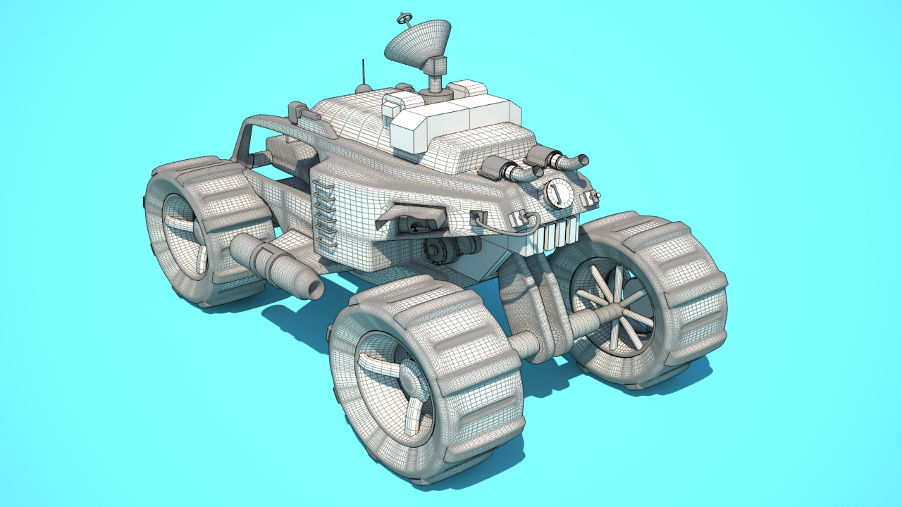 3D vehicle wireframe