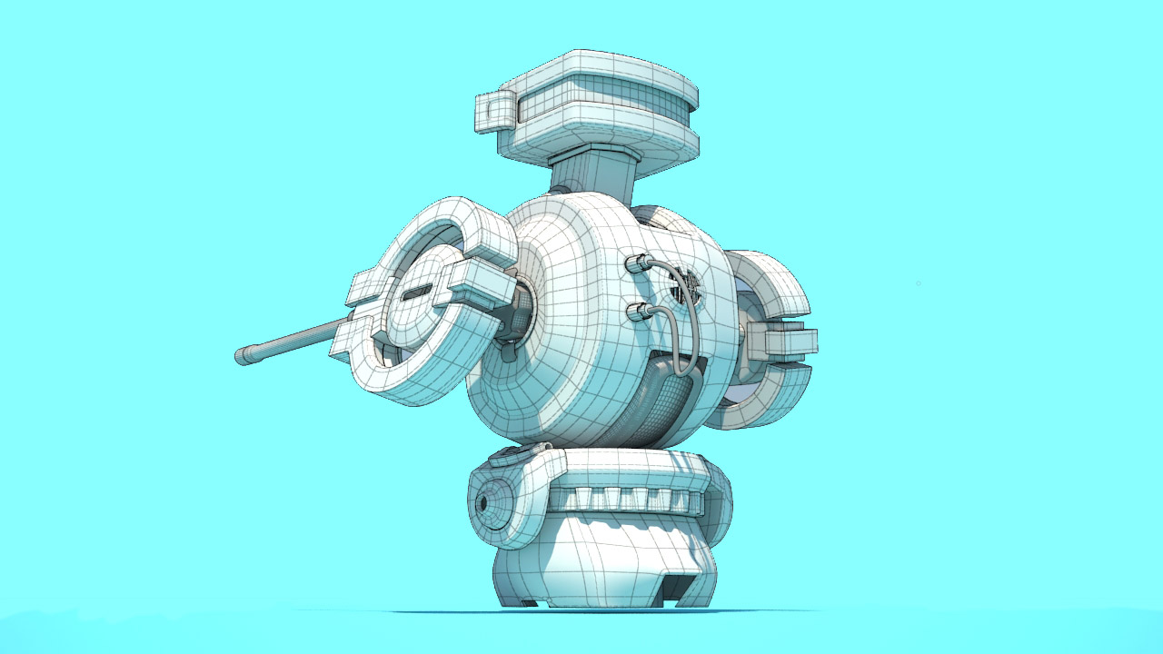 Wireframe 3D robot