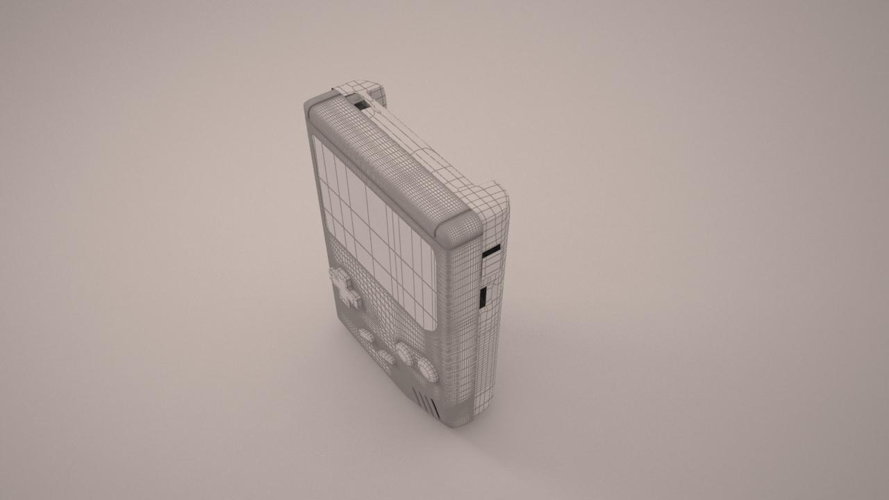 GameBoy modelling 3D