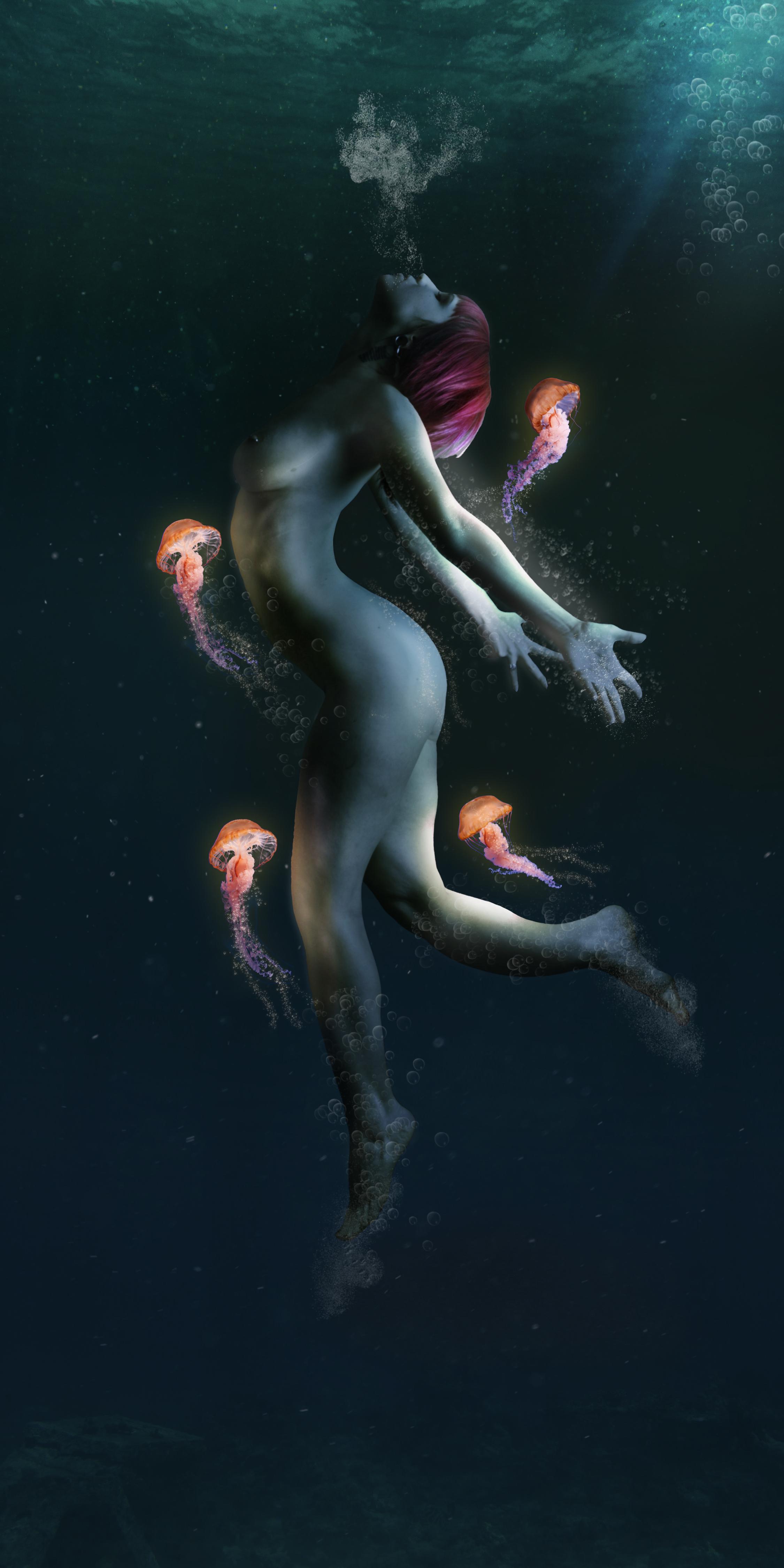 Woman jellyfish