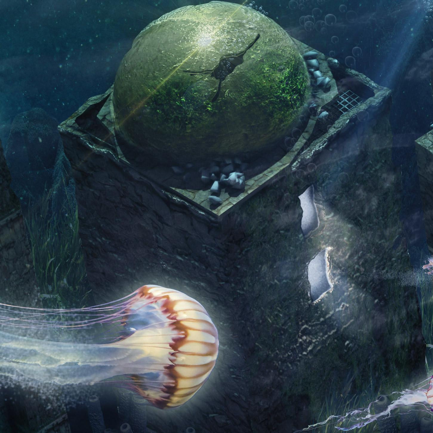Matte painting underwater