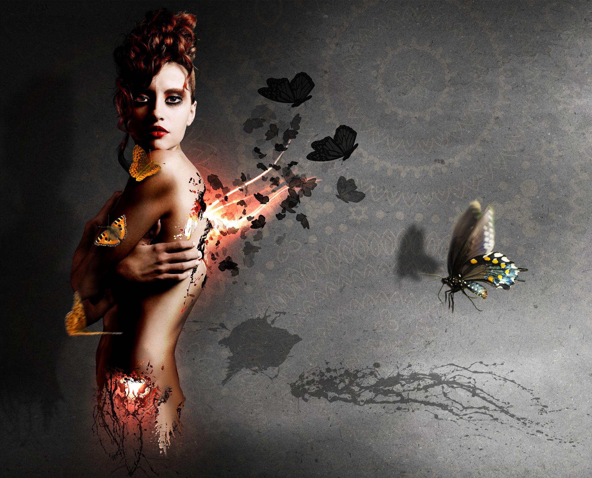 Mariposa photoshop