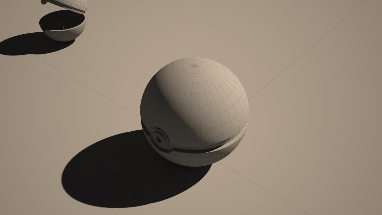 Pokeball modelling 3D