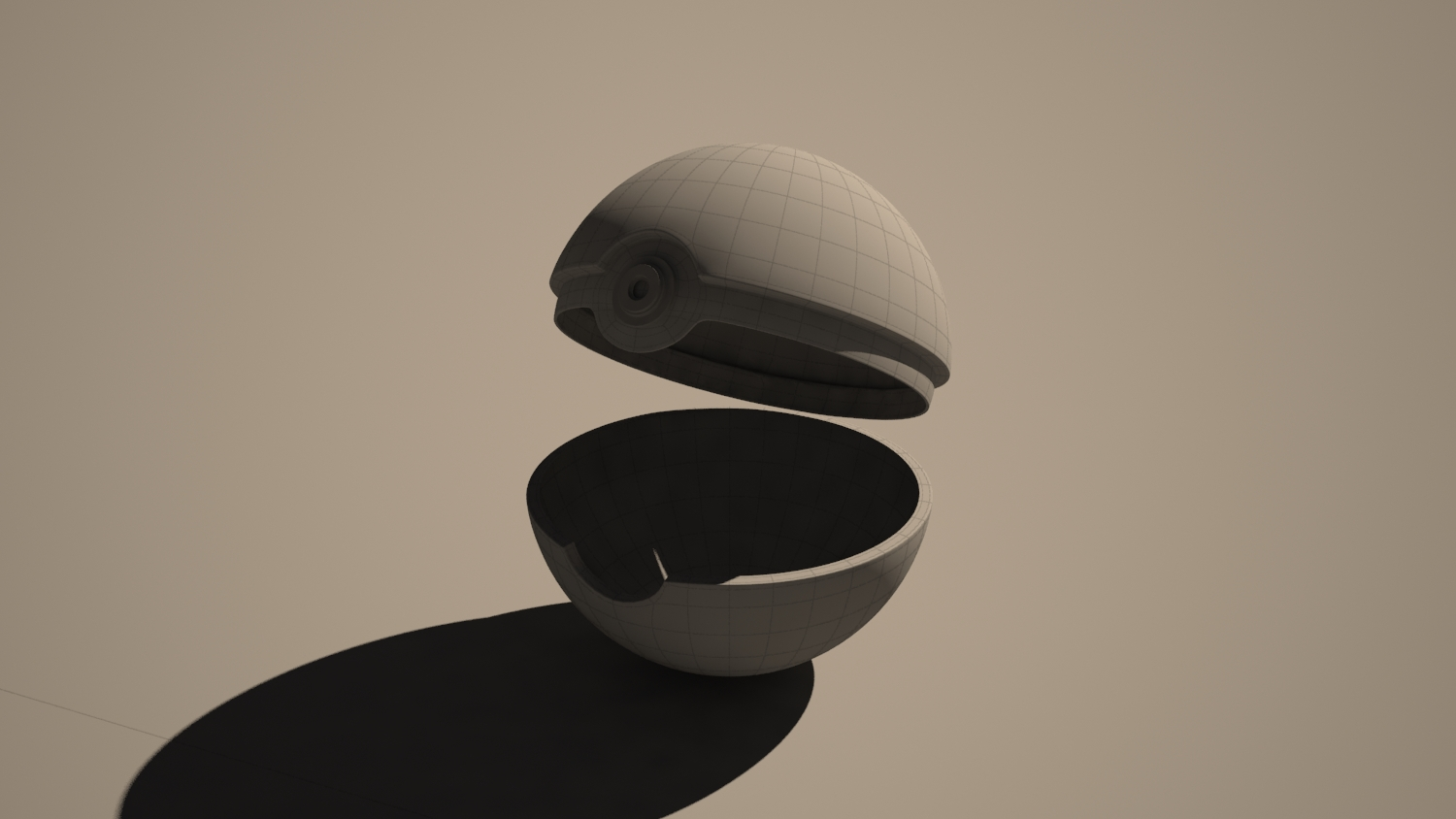 Pokeball modelling 3D