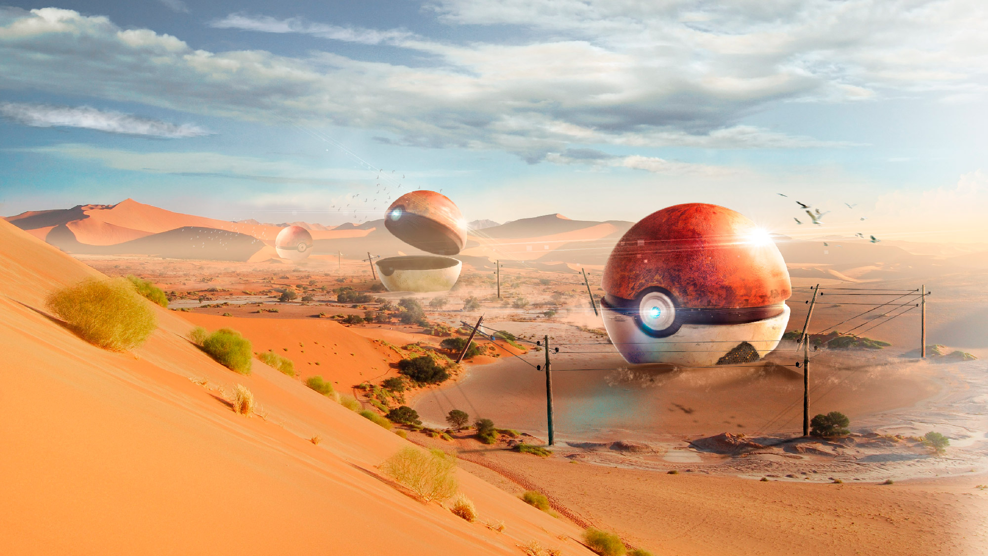 Matte painting Pokeball