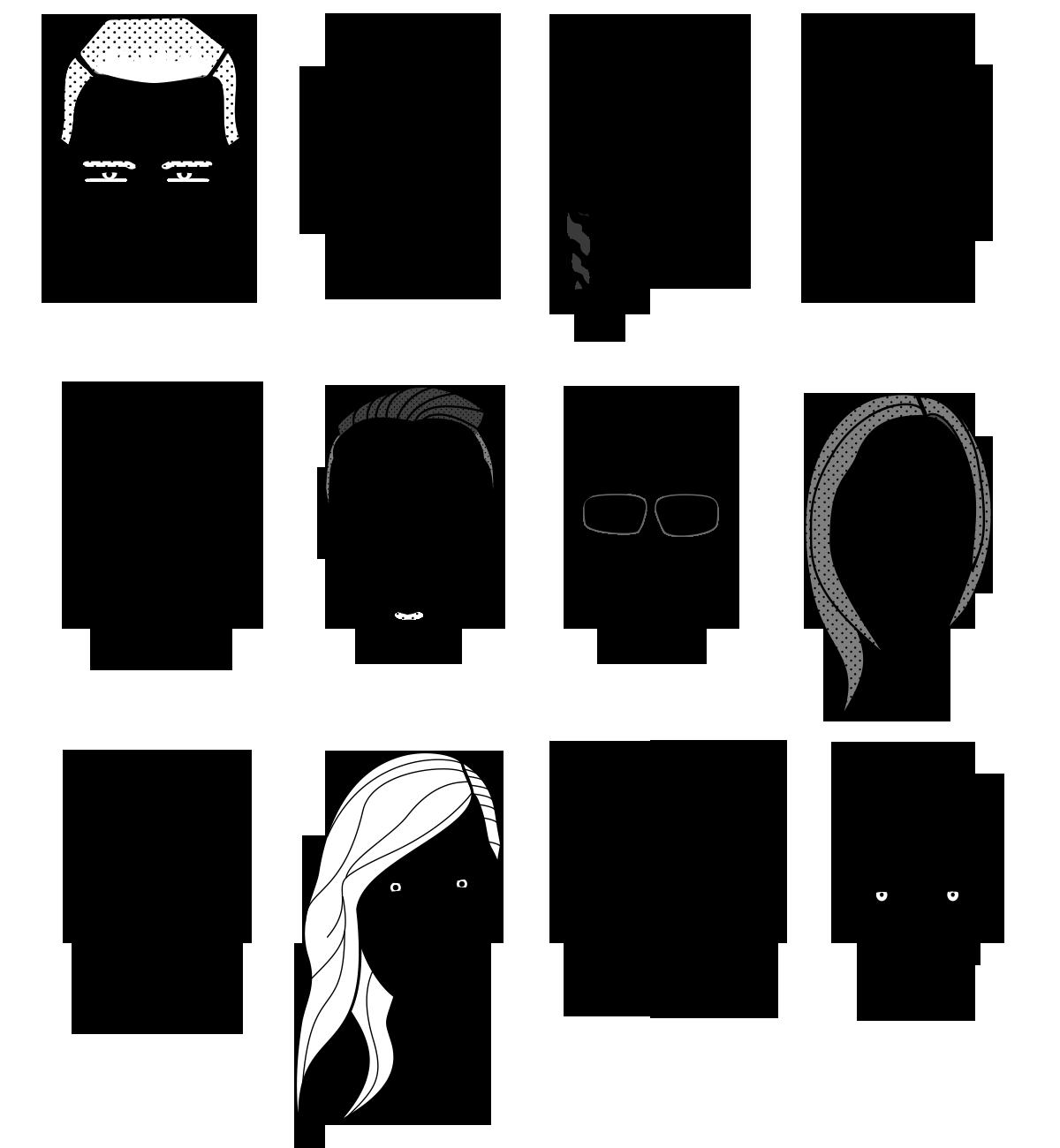 Ilustración de rostros
