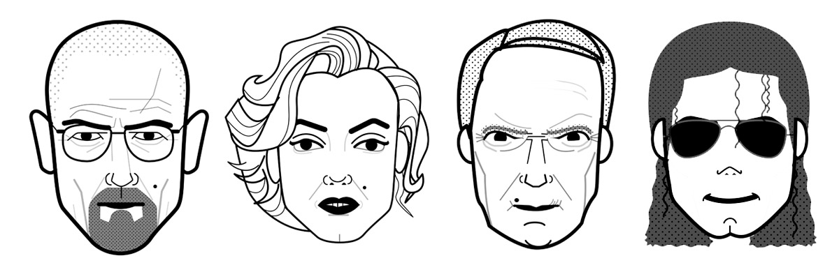 Face illustrations