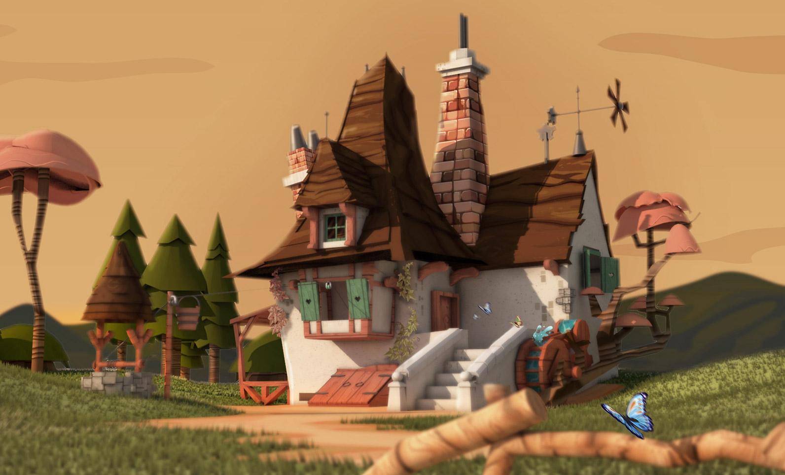 Escenas Disney 3D - Lowpoly