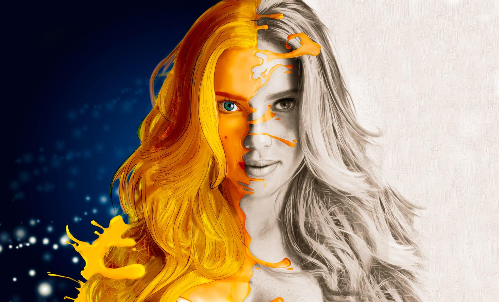 Pintura digital- Scarlette Johansson