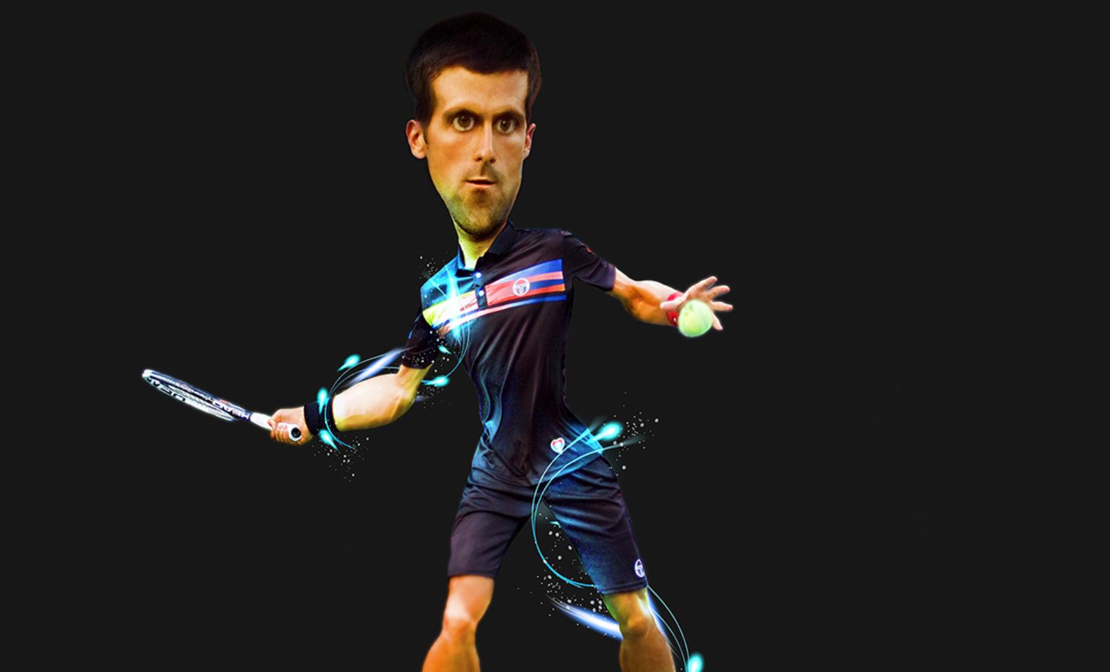 Caricatura Djokovic
