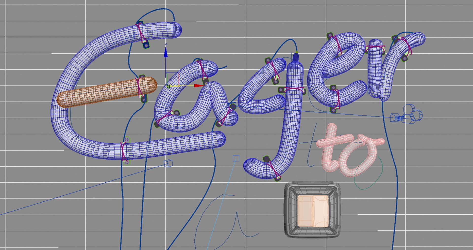 Tipografía tubos led
