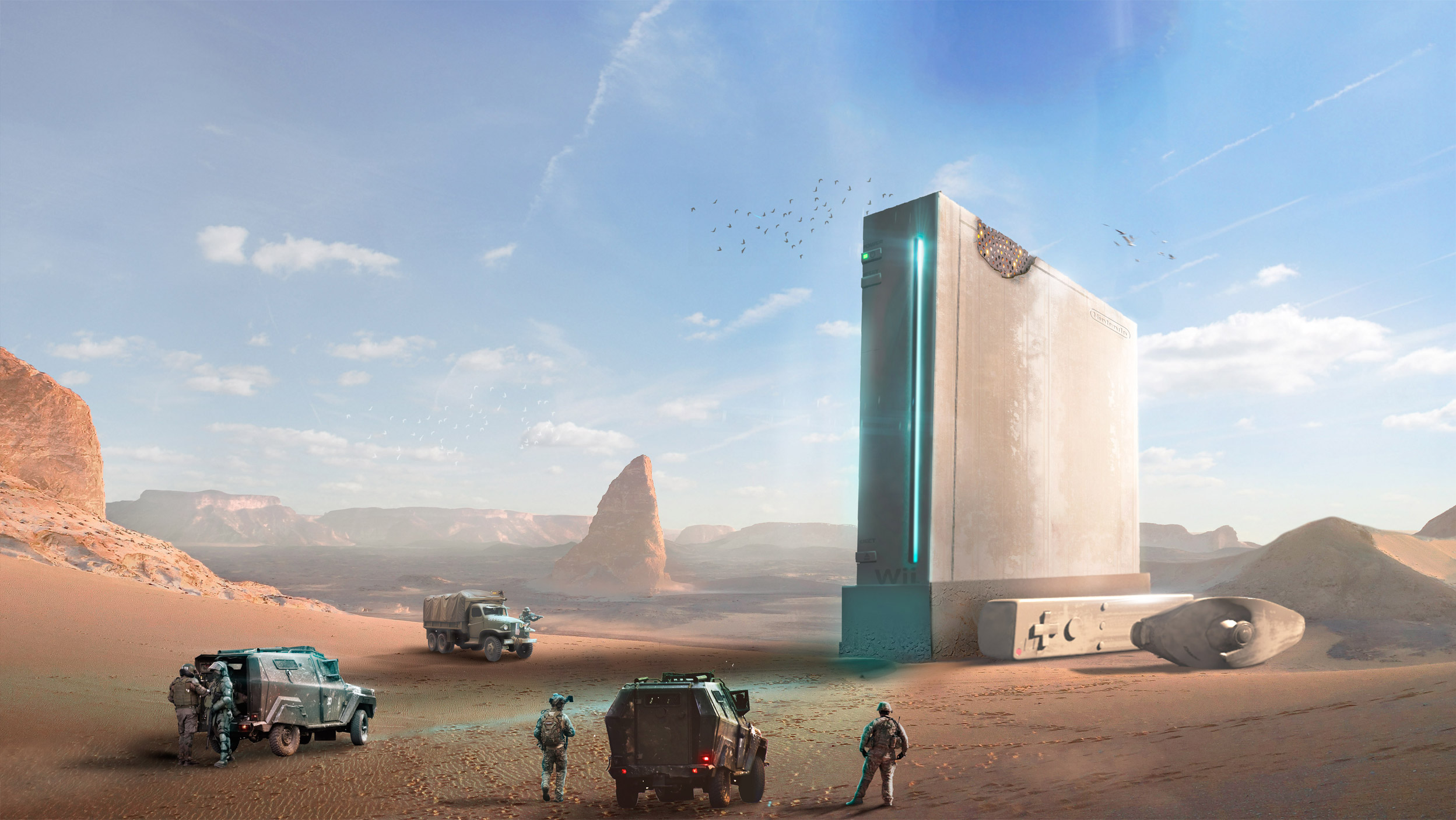 Matte painting Wii
