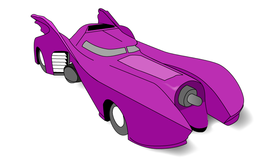 Car designed and inspired in crazy cars serie