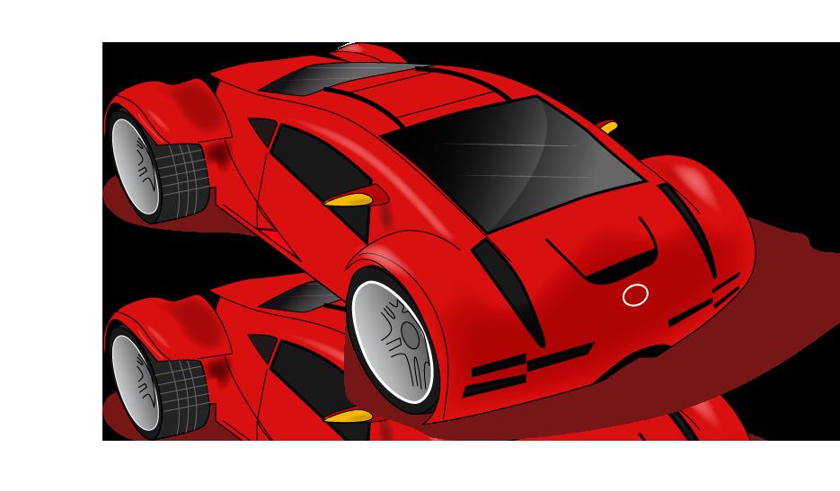 Vista cenital de coche futurista