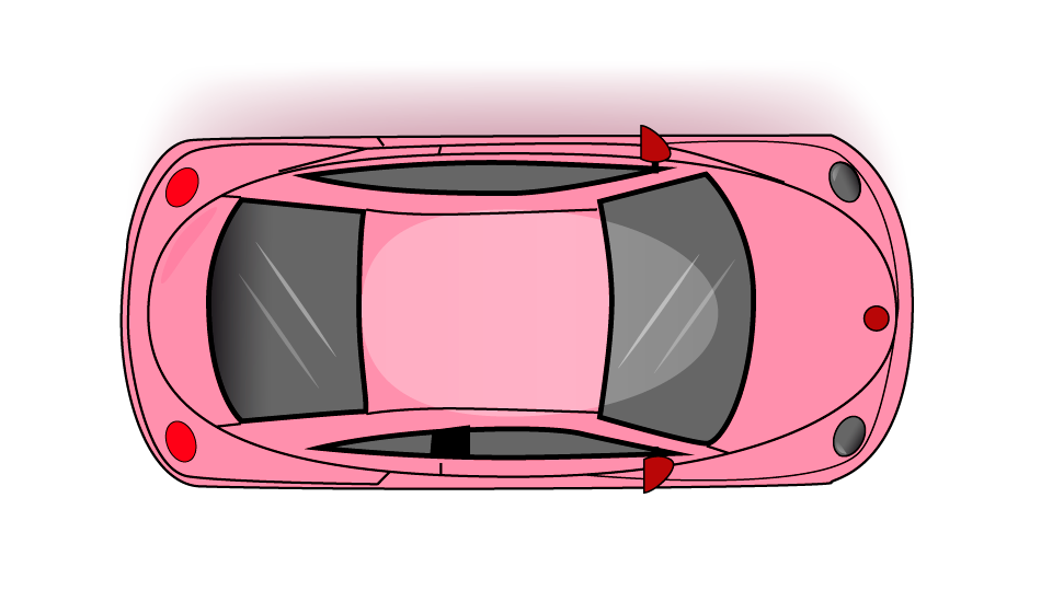 Ilustración coche Bettle en vista cenital