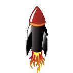 Graphic element rocket