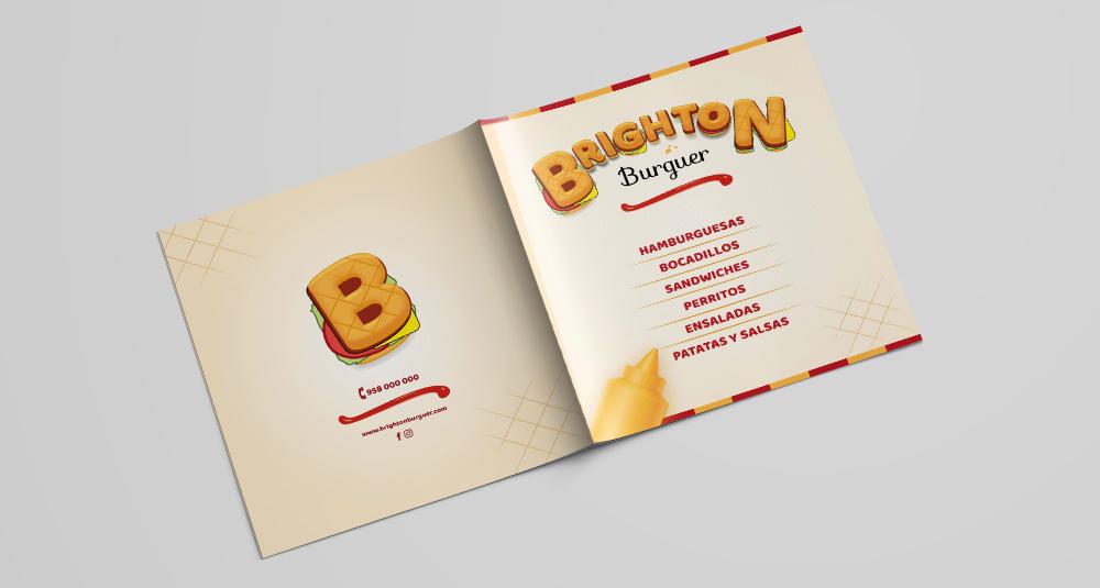 Burguer Brighton menu cover