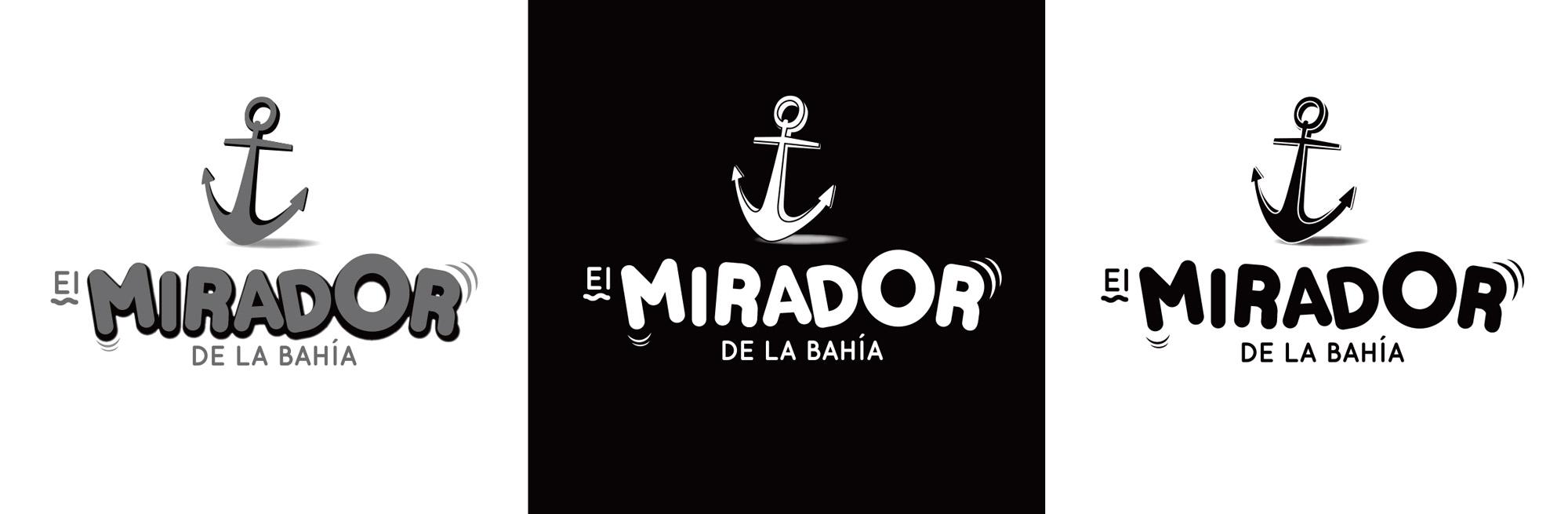 Logotipo en negativo, positivo y escala de grises