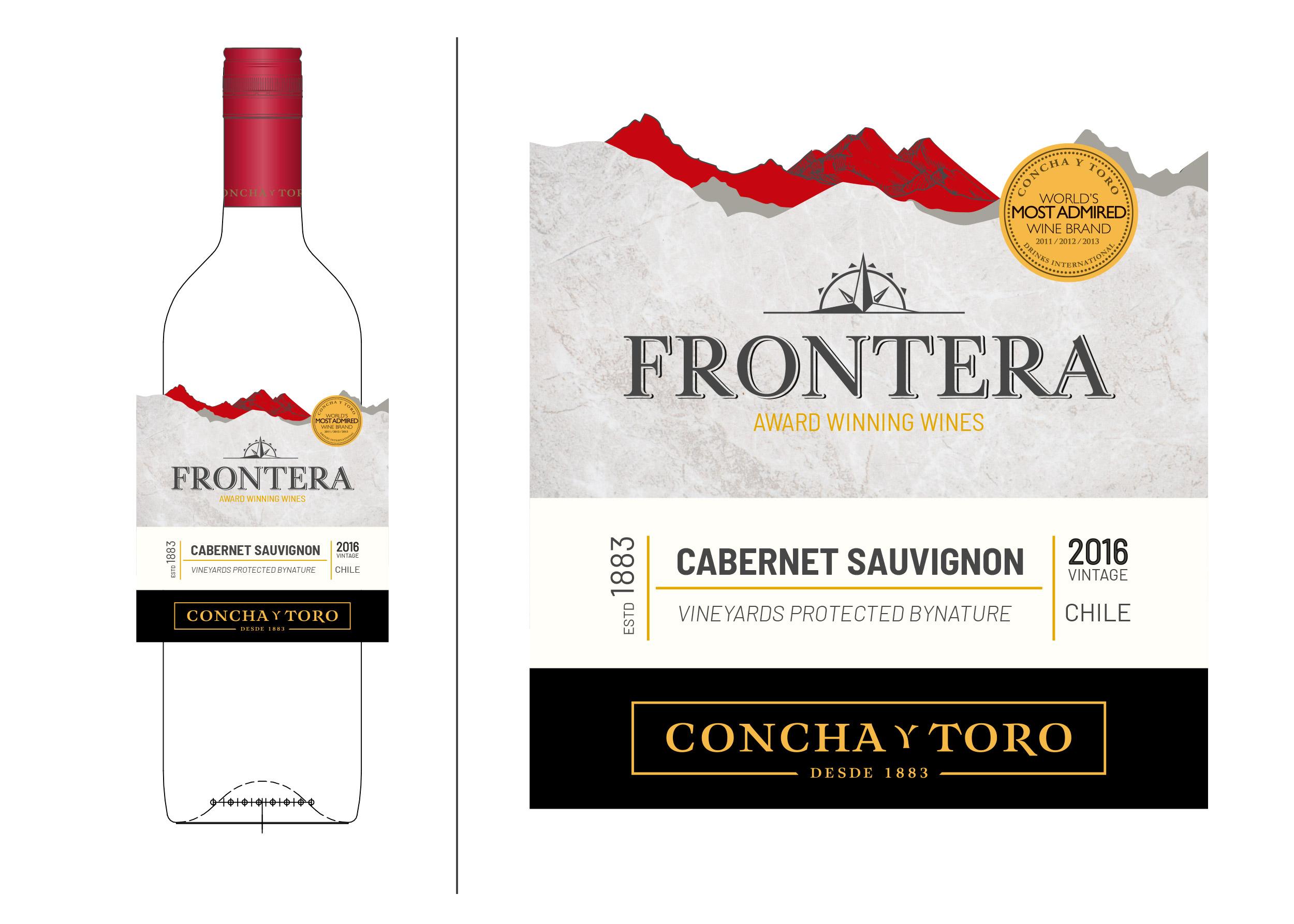 Wine chilean Frontera