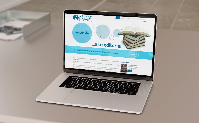 Diseño y desarrollo web - Editorial de libros